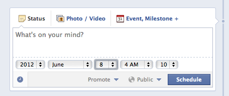 Scheduling Facebook Posts on Facebook