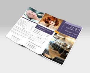 Glow Salon Pricing Brochures