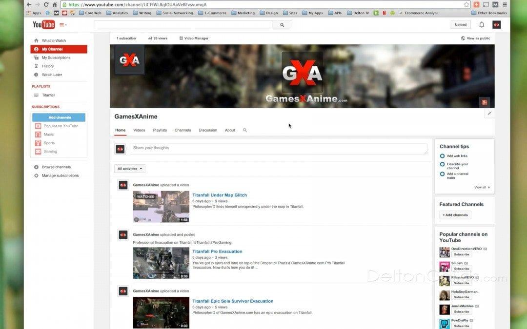 Custom YouTube Channel URL Set-Up