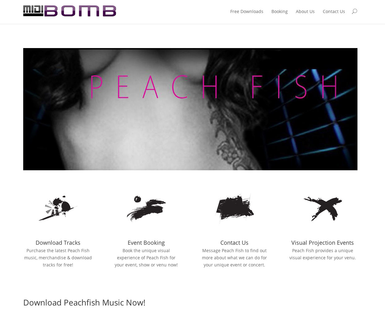 MidiBomb.com Website - The Music of Peach Fish